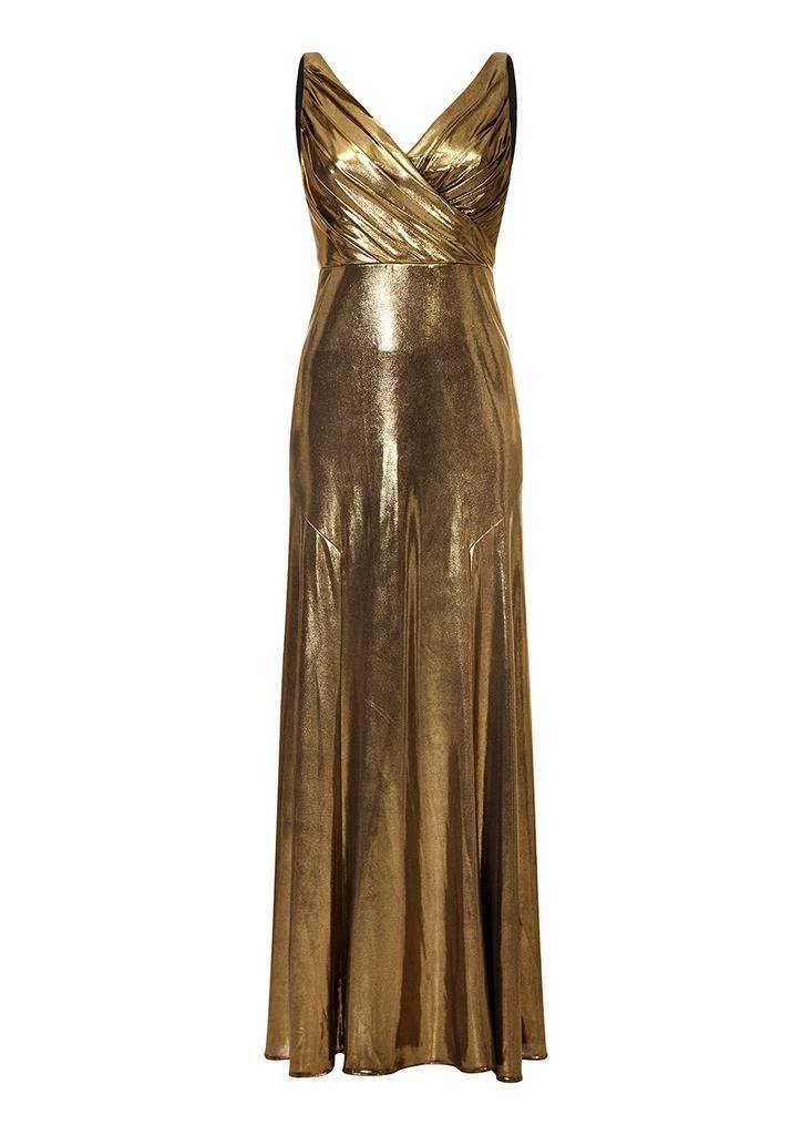 AIDAN Metallic Knit Dress