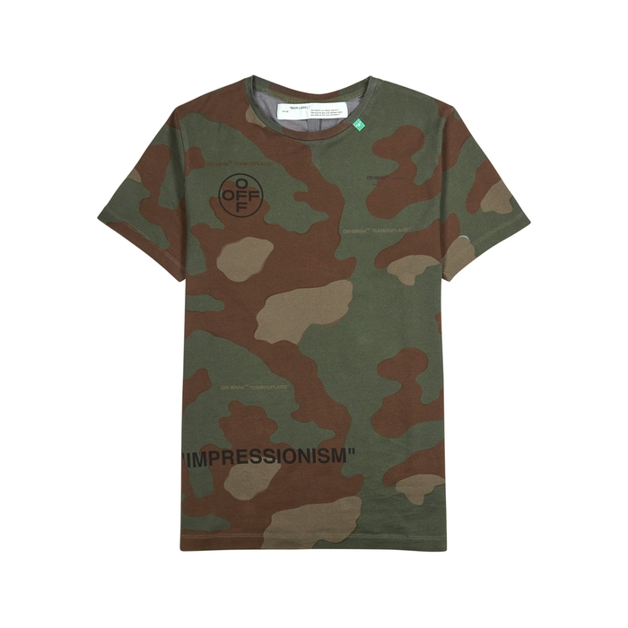 Off-White Camouflage-print Cotton T-shirt