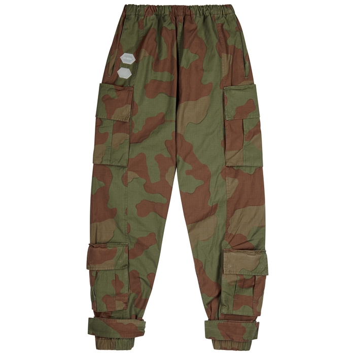 Off-White Camouflage-print Cotton Cargo Trousers