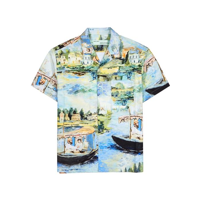 Off-White Lake Holiday Printed Cotton Shirt