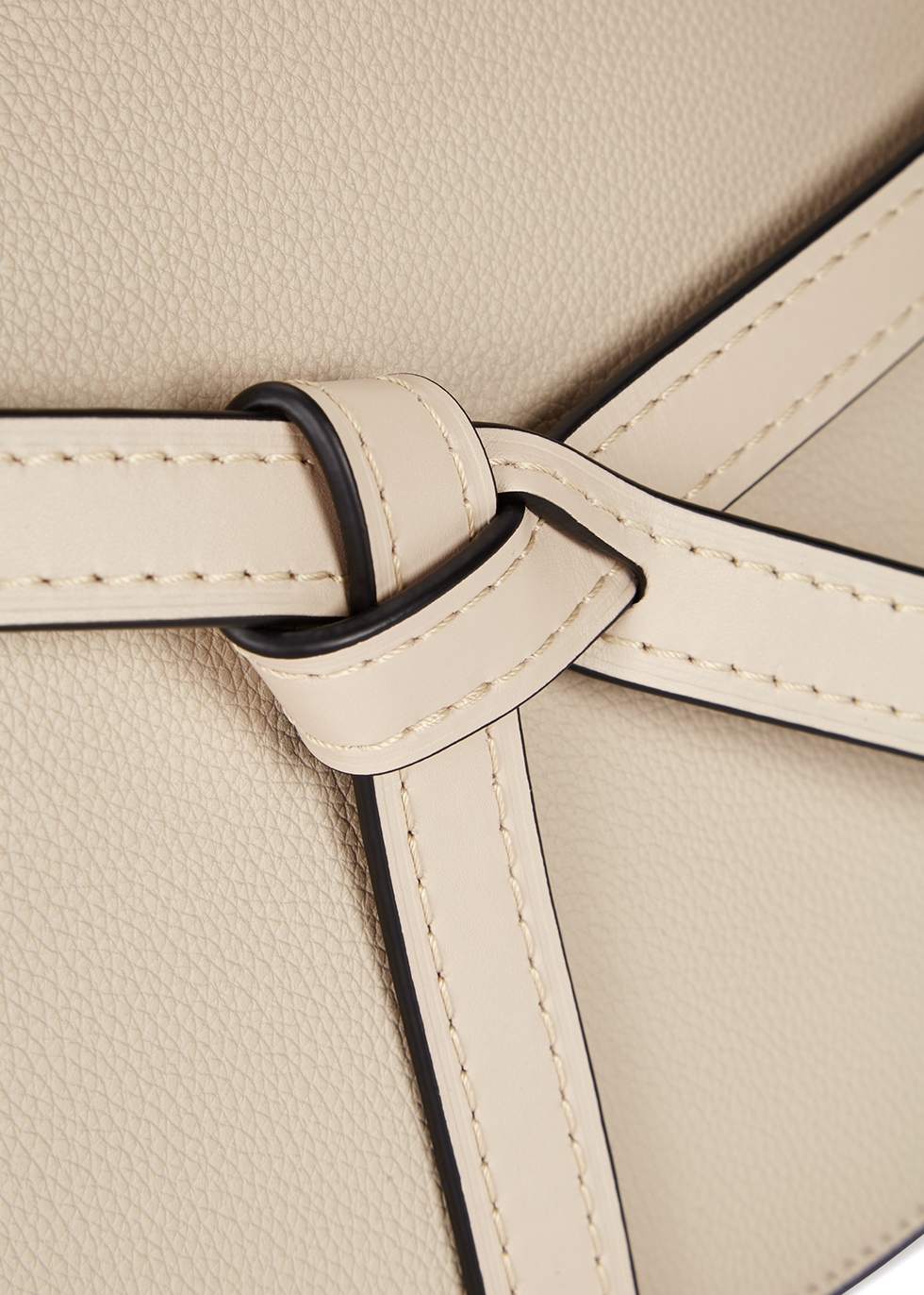 Gate taupe leather top handle bag - Loewe