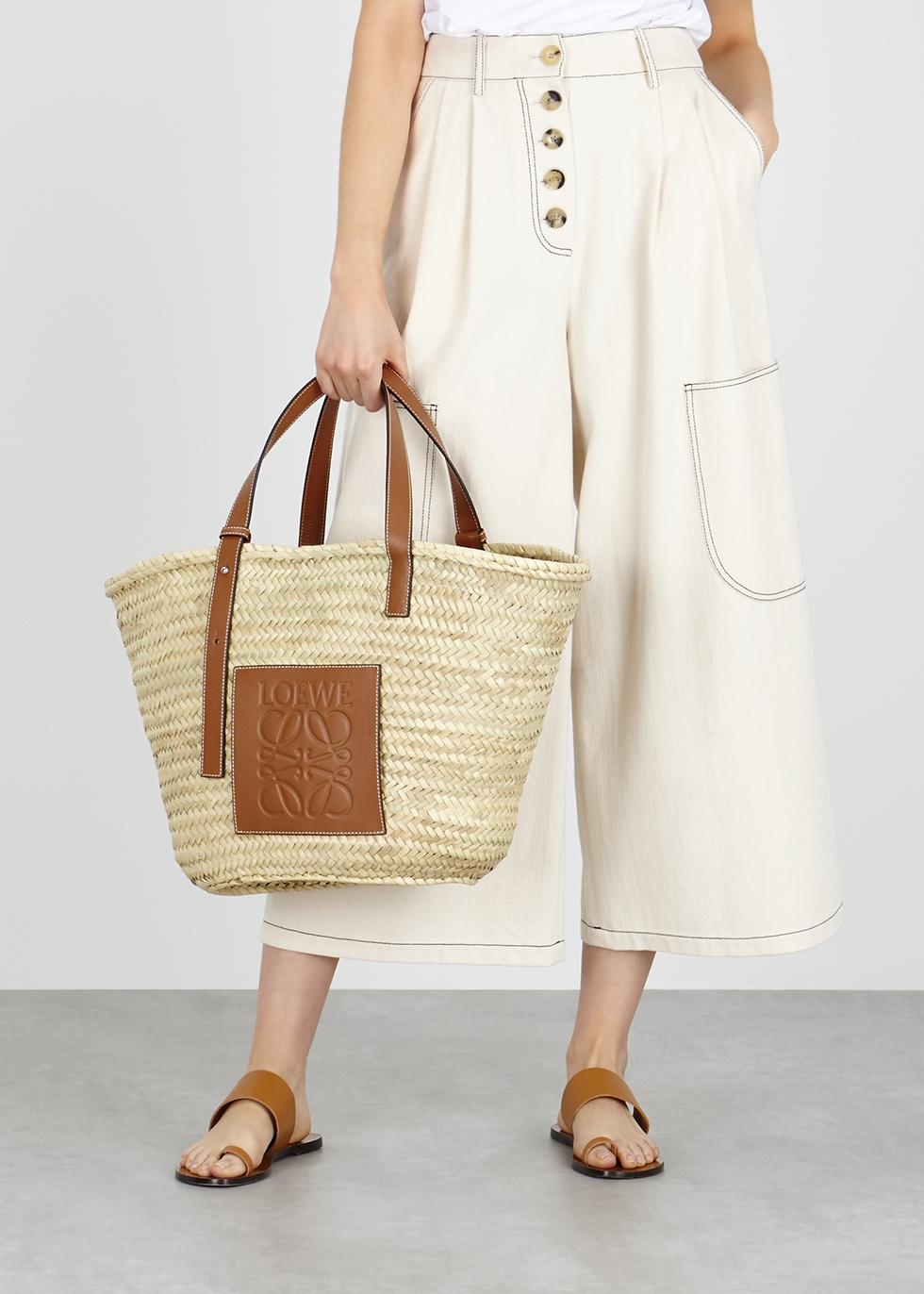 bdc0032e41e Loewe Large cream raffia basket bag - Harvey Nichols
