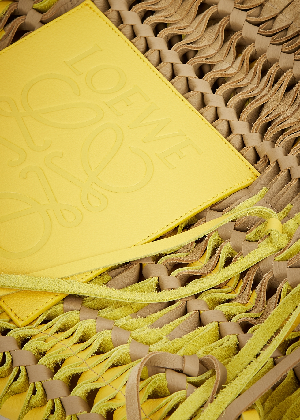 Woven logo leather tote - Loewe