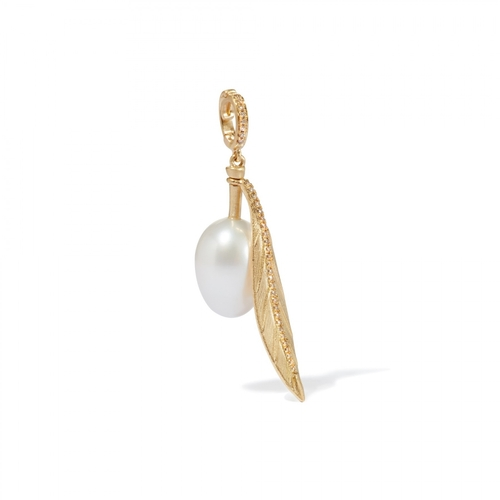 Annoushka 18CT GOLD PEARL OLIVE SEED CHARM