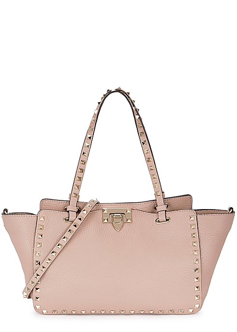 0308bff02a Valentino Garavani Rockstud small blush leather tote - Harvey Nichols