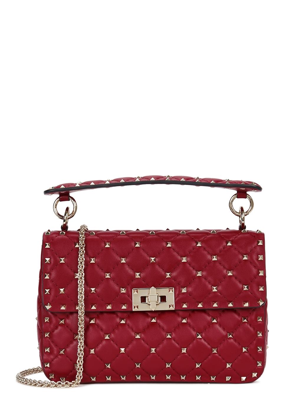 Valentino Garavani Rockstud Spike medium leather shoulder bag - Harvey  Nichols 8b4a61f056f2b