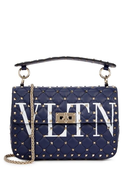 Valentino Garavani Rockstud Spike medium leather shoulder bag ... 8c1e1cd5aca63