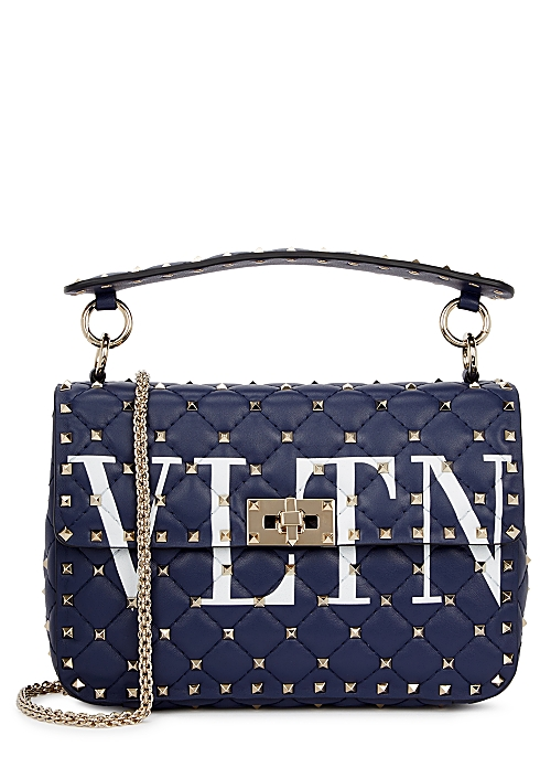 176a0eb461 Valentino Garavani Rockstud Spike medium leather shoulder bag ...