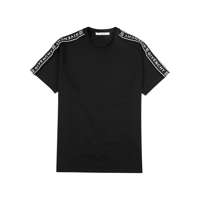 Givenchy Cottons BLACK LOGO COTTON T-SHIRT