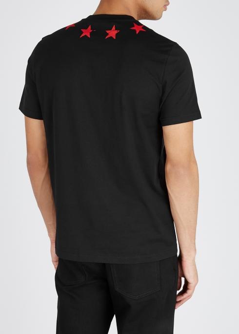 Givenchy Black star-print cotton T-shirt - Harvey Nichols d7a09f7e31f0