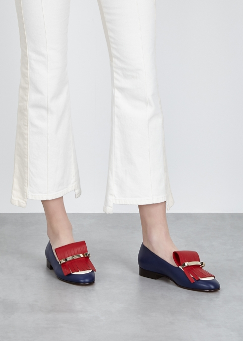 7987faf2ec6 Valentino Garavani Uptown 10 fringed leather loafers - Harvey Nichols