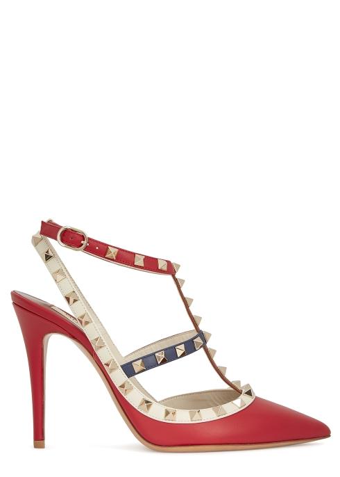 a007db8dc1d73 Valentino Garavani Rockstud 100 studded leather pumps - Harvey Nichols