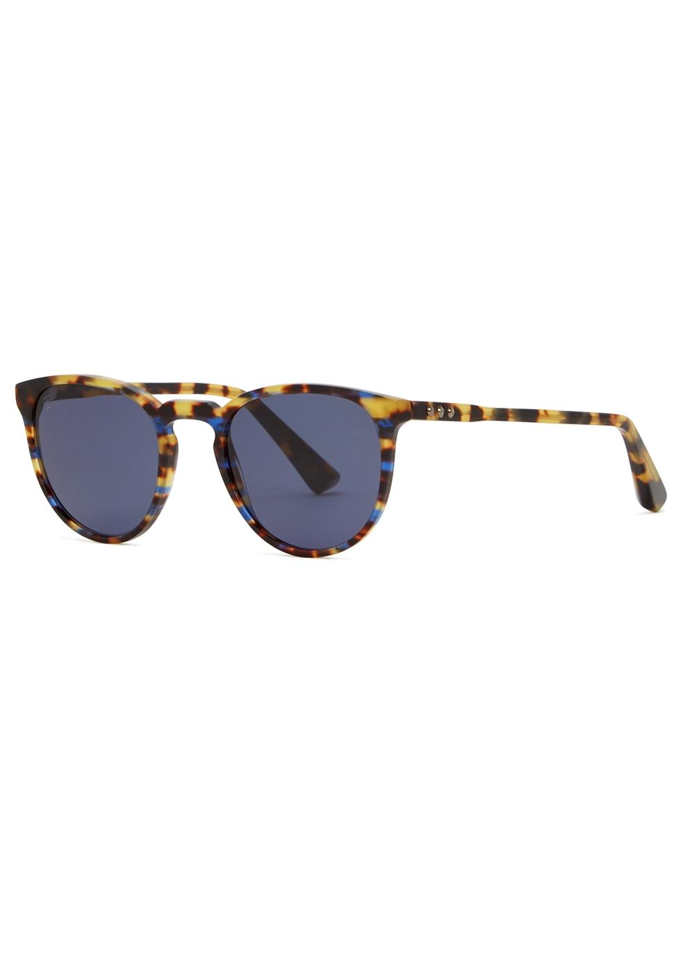 TAYLOR MORRIS EYEWEAR George Arthur C7 Round-Frame Sunglasses in Tortoise
