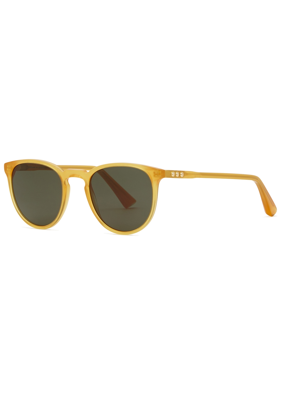 TAYLOR MORRIS EYEWEAR George Arthur C9 Round-Frame Sunglasses in Yellow