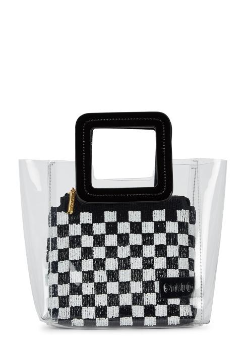 03e0c00d7683 STAUD Shirley mini PVC and beaded tote - Harvey Nichols