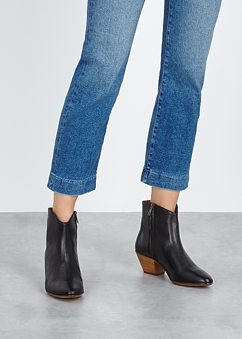 top-rated cheap 100% satisfaction competitive price Isabel Marant Dacken 50 black leather ankle boots - Harvey ...