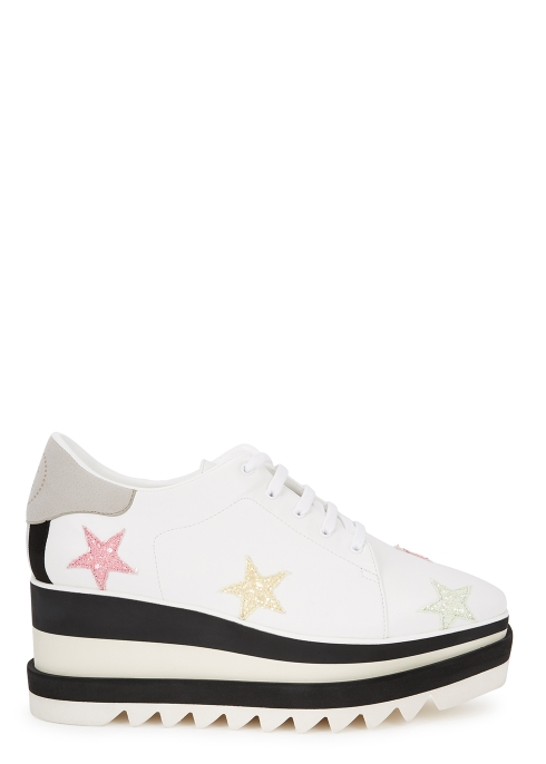 Stella McCartney Sneakelyse 75 faux leather flatform trainers ... c802fb8984