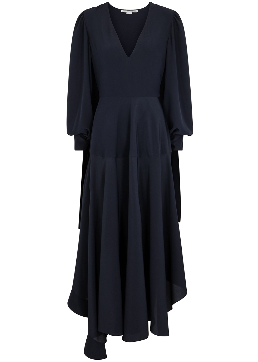 e5ca40dd0 Stella McCartney Navy silk crepe de chine dress - Harvey Nichols