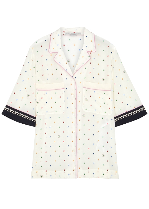 5f2186c9e9d1f Stella McCartney Printed silk crepe de chine shirt - Harvey Nichols