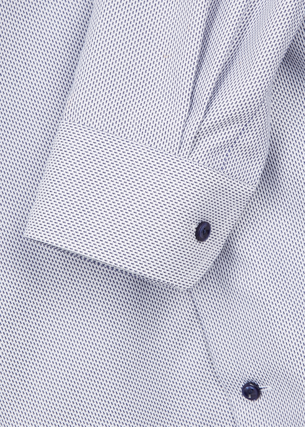Blue and white contemporary cotton shirt - Eton