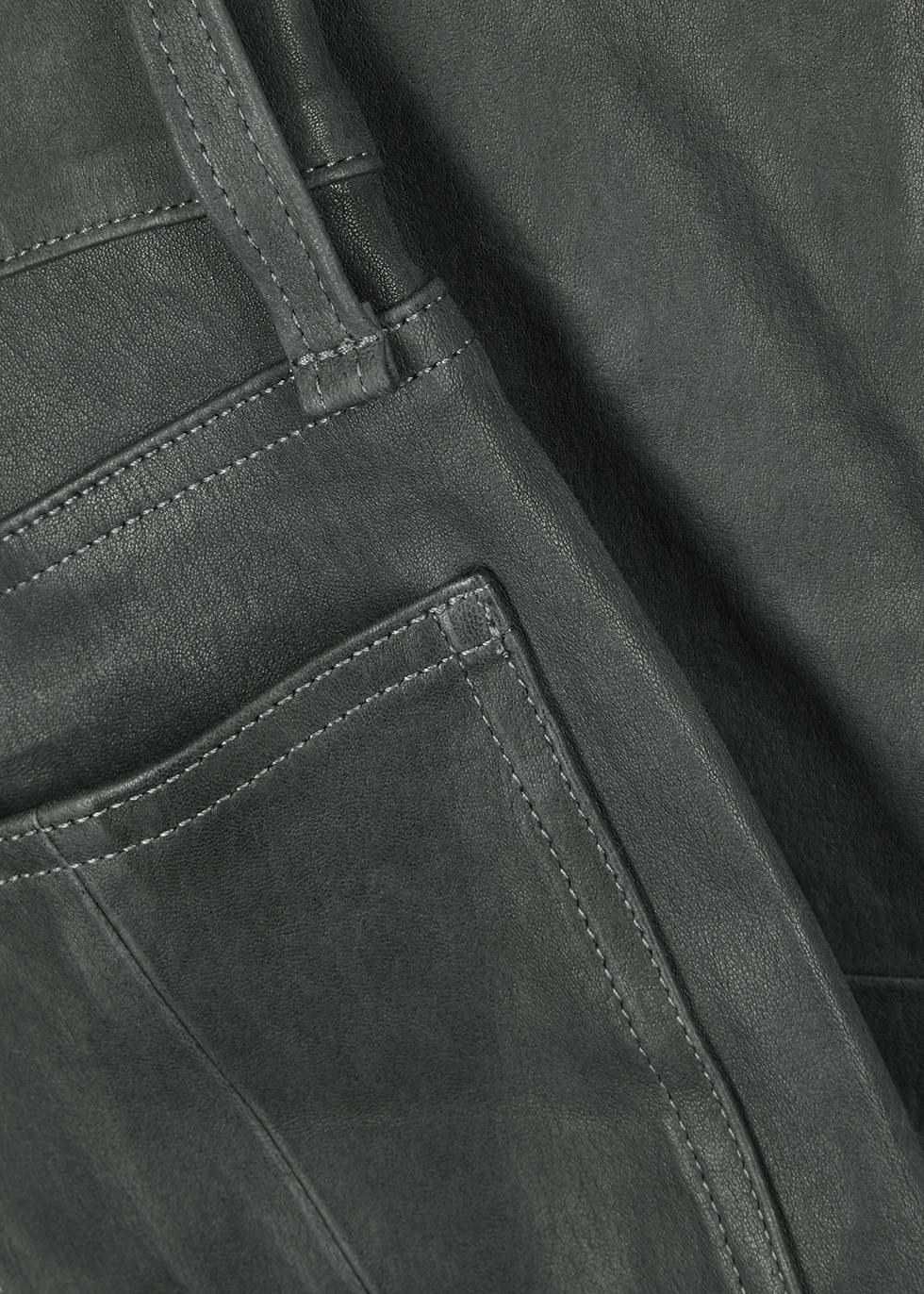 Grey cropped leather skinny jeans - rag & bone