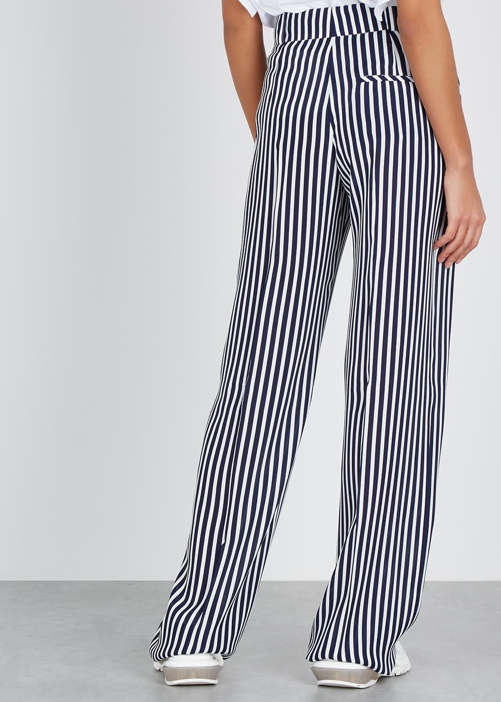 Striped wide-leg trousers - HUGO