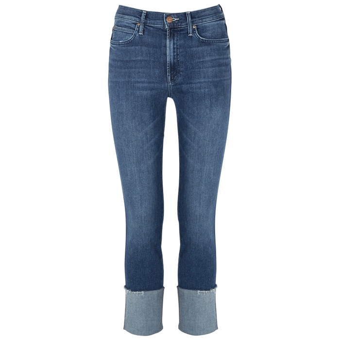 MOTHER THE PONYBOY CROPPED JEANS