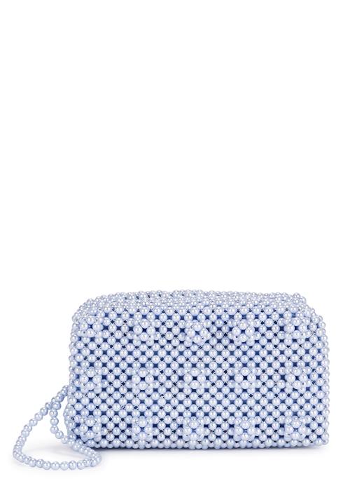 ed5f91114c Shrimps Molly lilac beaded clutch bag - Harvey Nichols