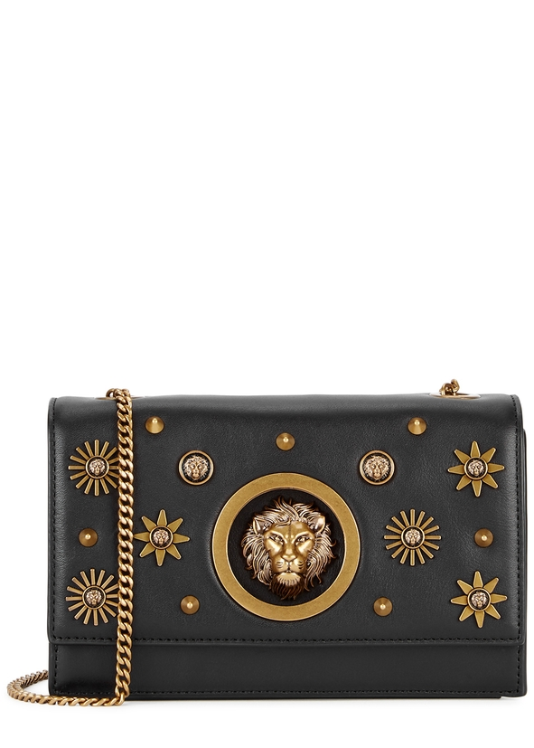 Black embellished leather cross-body bag ... 95515c787e2ce