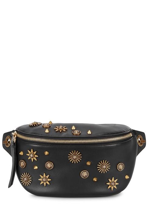 9e4dead6fa Versus Versace Black embellished leather belt bag - Harvey Nichols