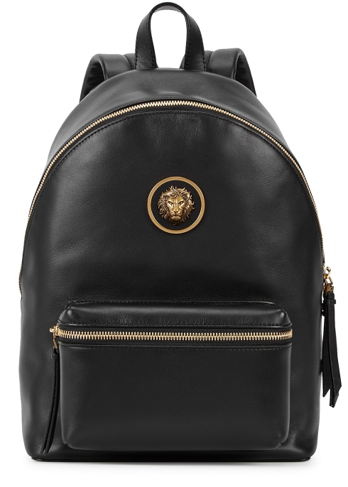Versus Versace Black leather backpack - Harvey Nichols 392f0ad8b2bbb