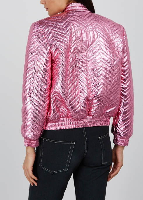 1e9297c4ee9 Gucci Quilted metallic leather bomber jacket - Harvey Nichols