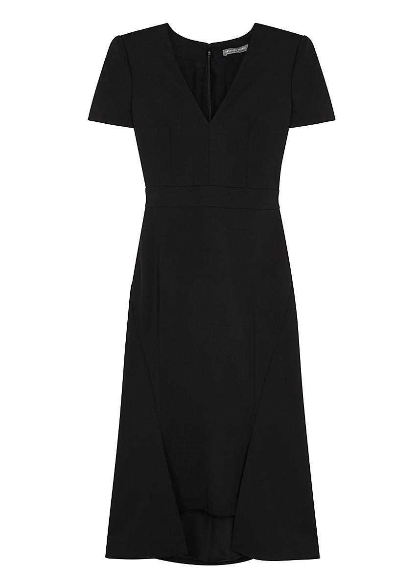 59eb13572ff819 Black twill midi dress Black twill midi dress. Alexander McQueen. Black  twill midi dress