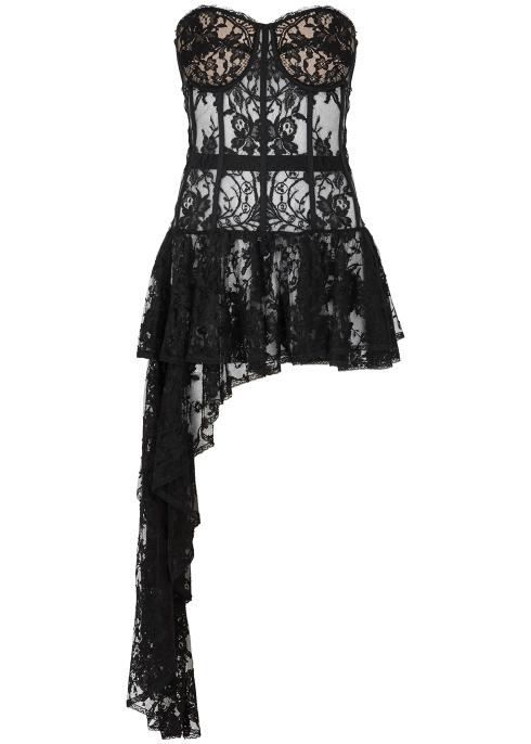 6143fe3ba62e9f Alexander McQueen Black lace corset top - Harvey Nichols
