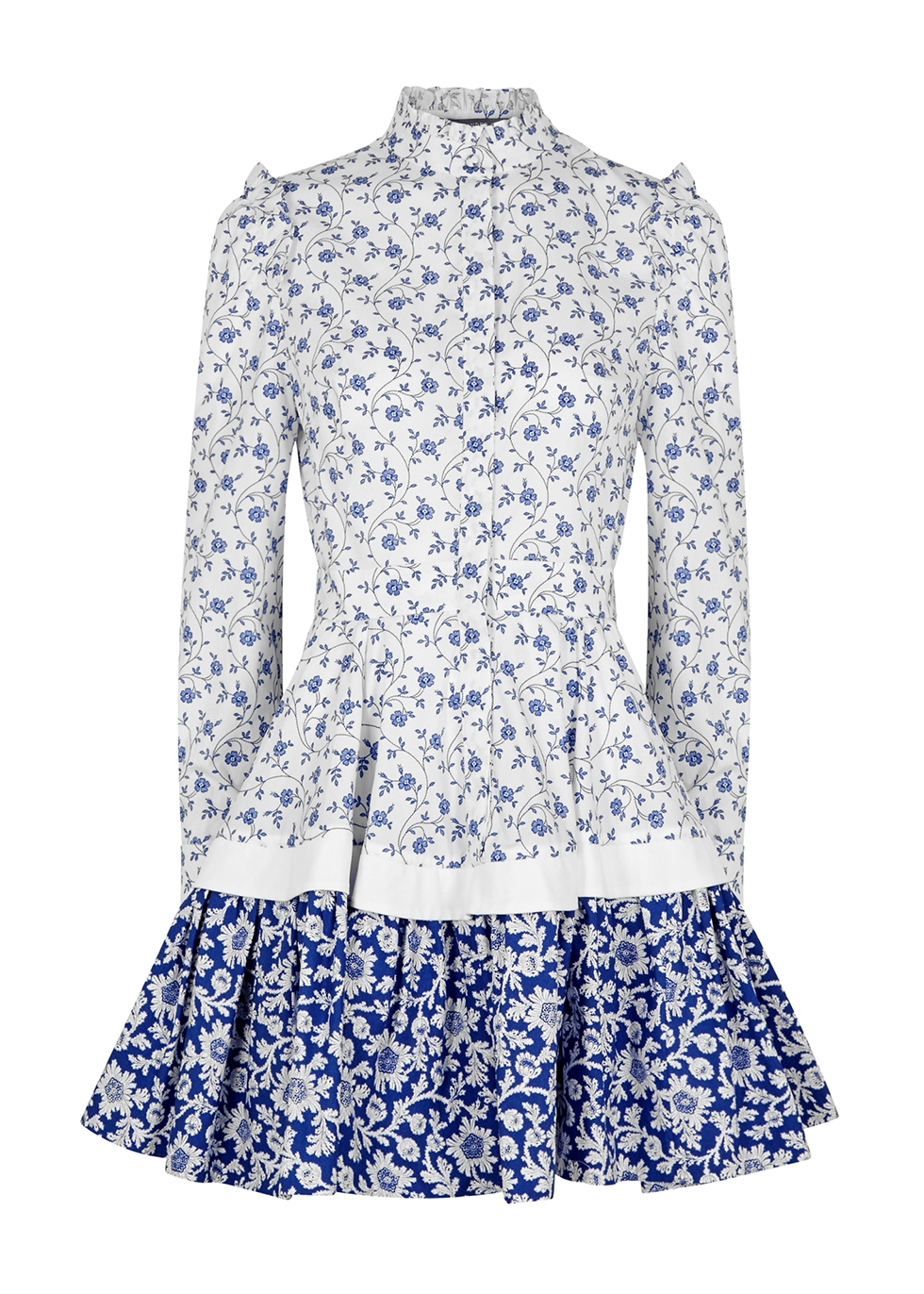 Alexander McQueen Floral-print cotton mini dress - Harvey ...