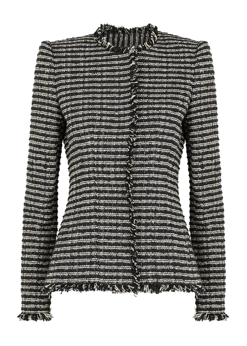 f54249e7489 Black striped tweed jacket ...