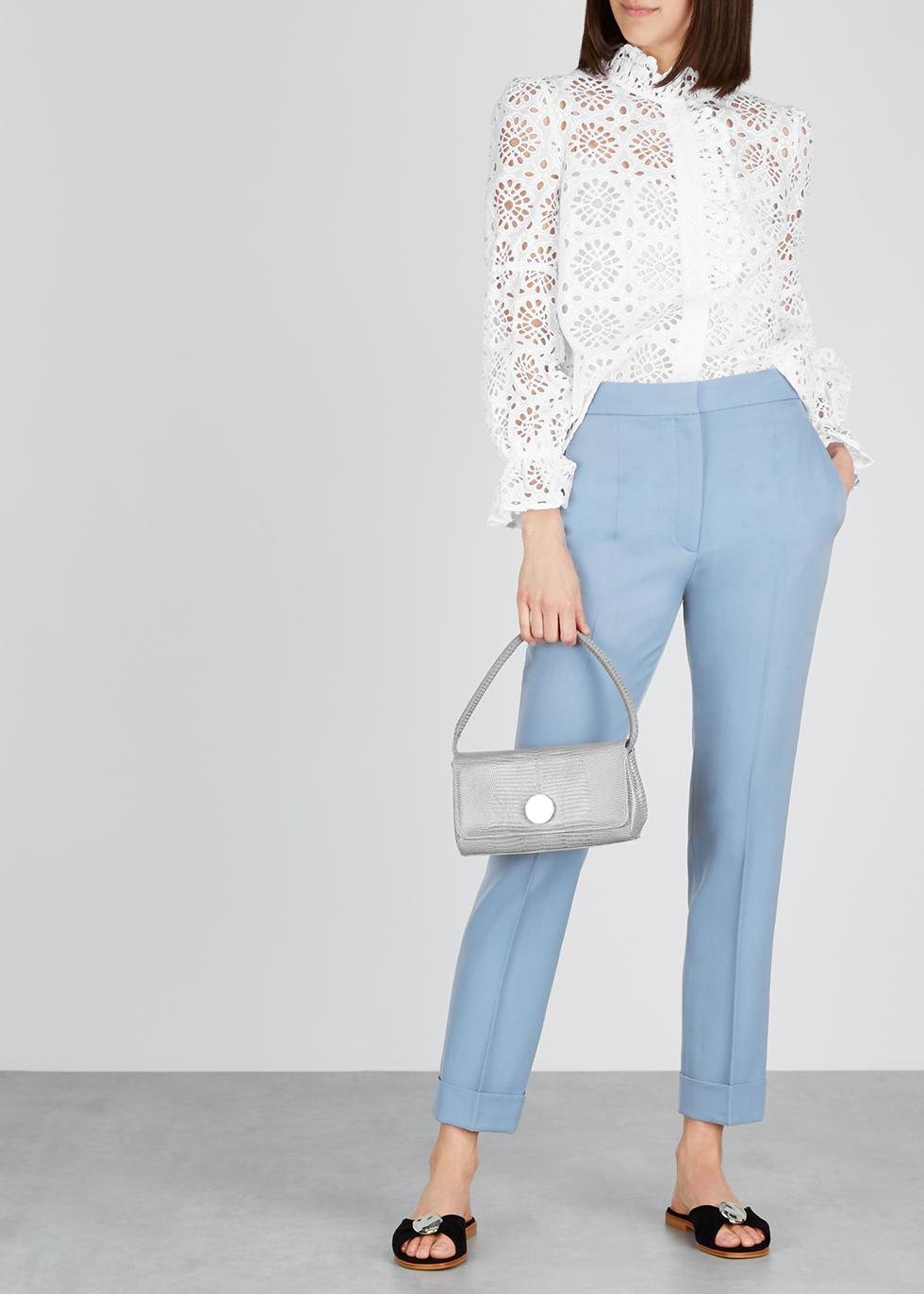 Rosalyn white broderie anglaise shirt - Diane von Furstenberg