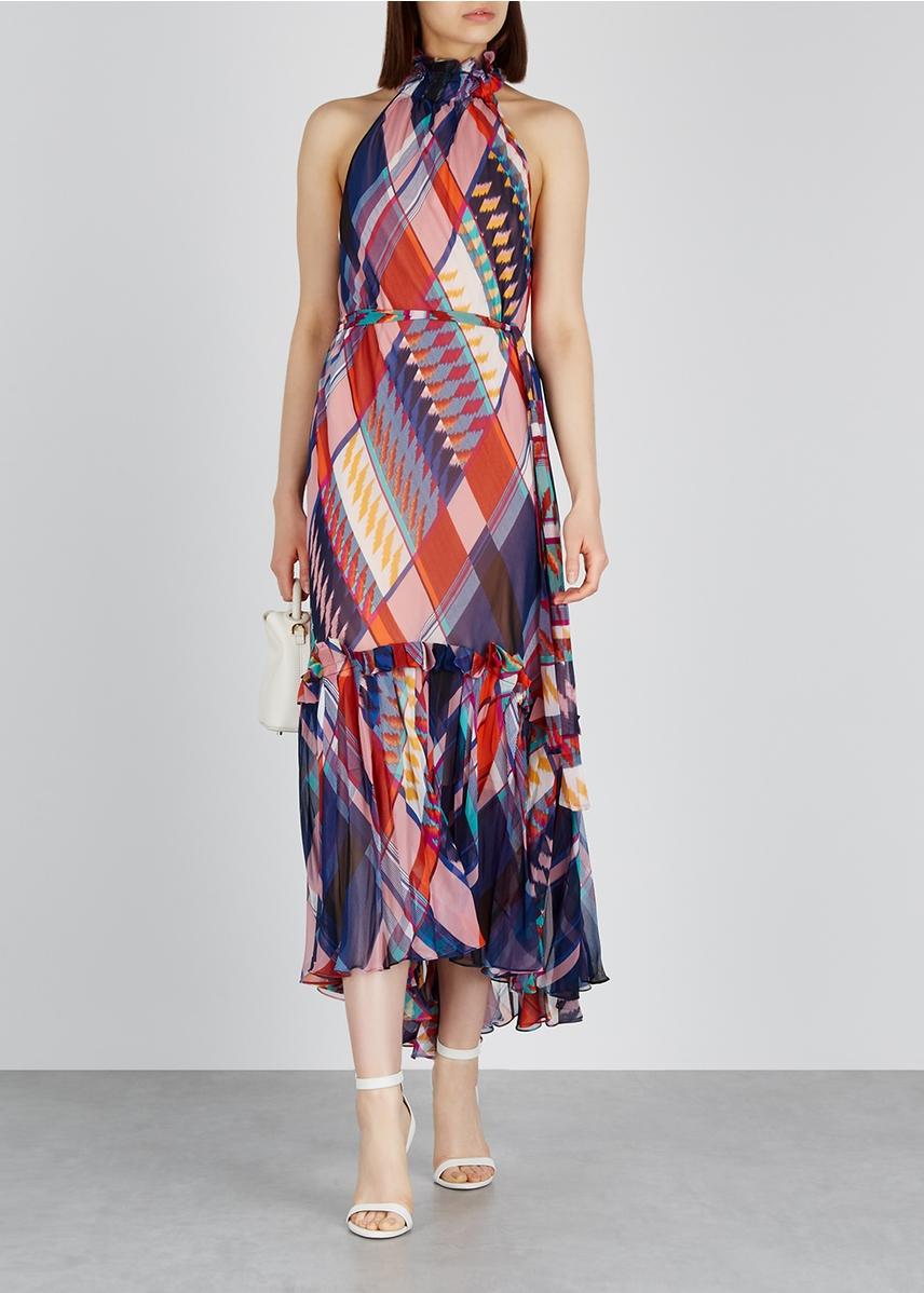 00310b5f305b4 ... Selena printed silk crepe de chine dress. Diane von Furstenberg
