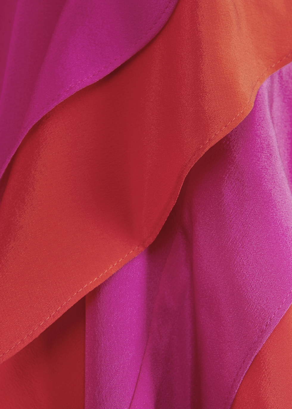Sage hot pink halterneck silk dress - Diane von Furstenberg