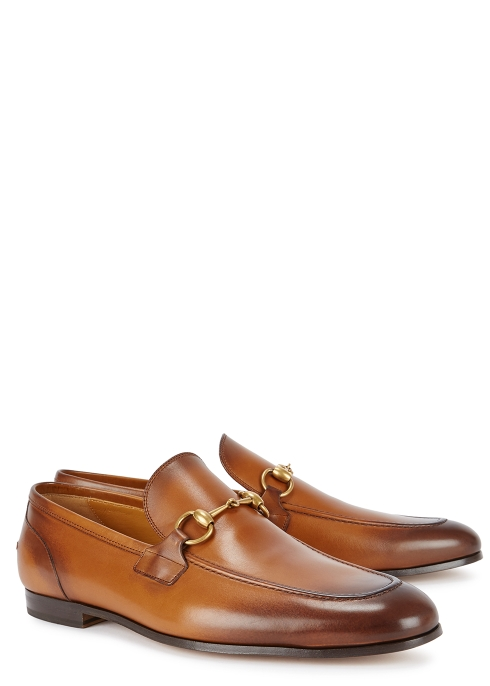 eac8667b8fa Gucci Jordan burnished leather loafers - Harvey Nichols