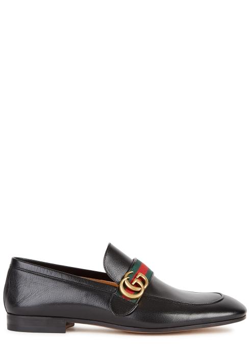 ae6a1b5dd2f Gucci Donnie black leather loafers - Harvey Nichols