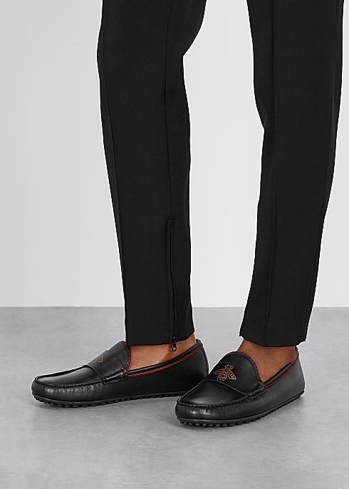 ee84ca7f3 Gucci Kanye black leather driving shoes - Harvey Nichols