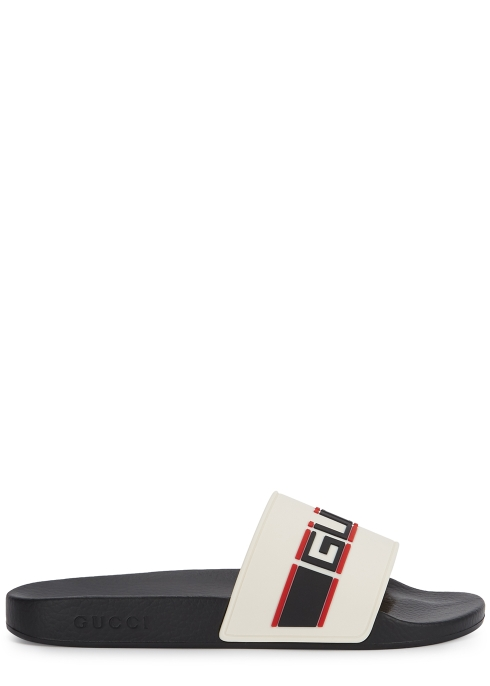 7ee9395adf14 Gucci Logo rubber sliders - Harvey Nichols