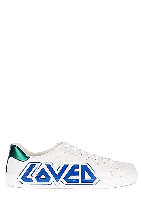 970fff22c Gucci Ace Loved printed leather sneakers - Harvey Nichols