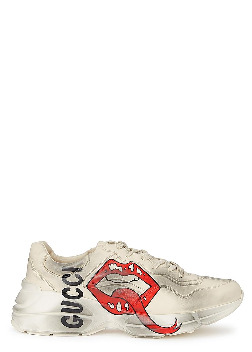 1c1e27a2764cc6 Rhyton printed leather trainers ...