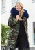 3-4 camouflage parka with navy fur collar and lining - Popski London
