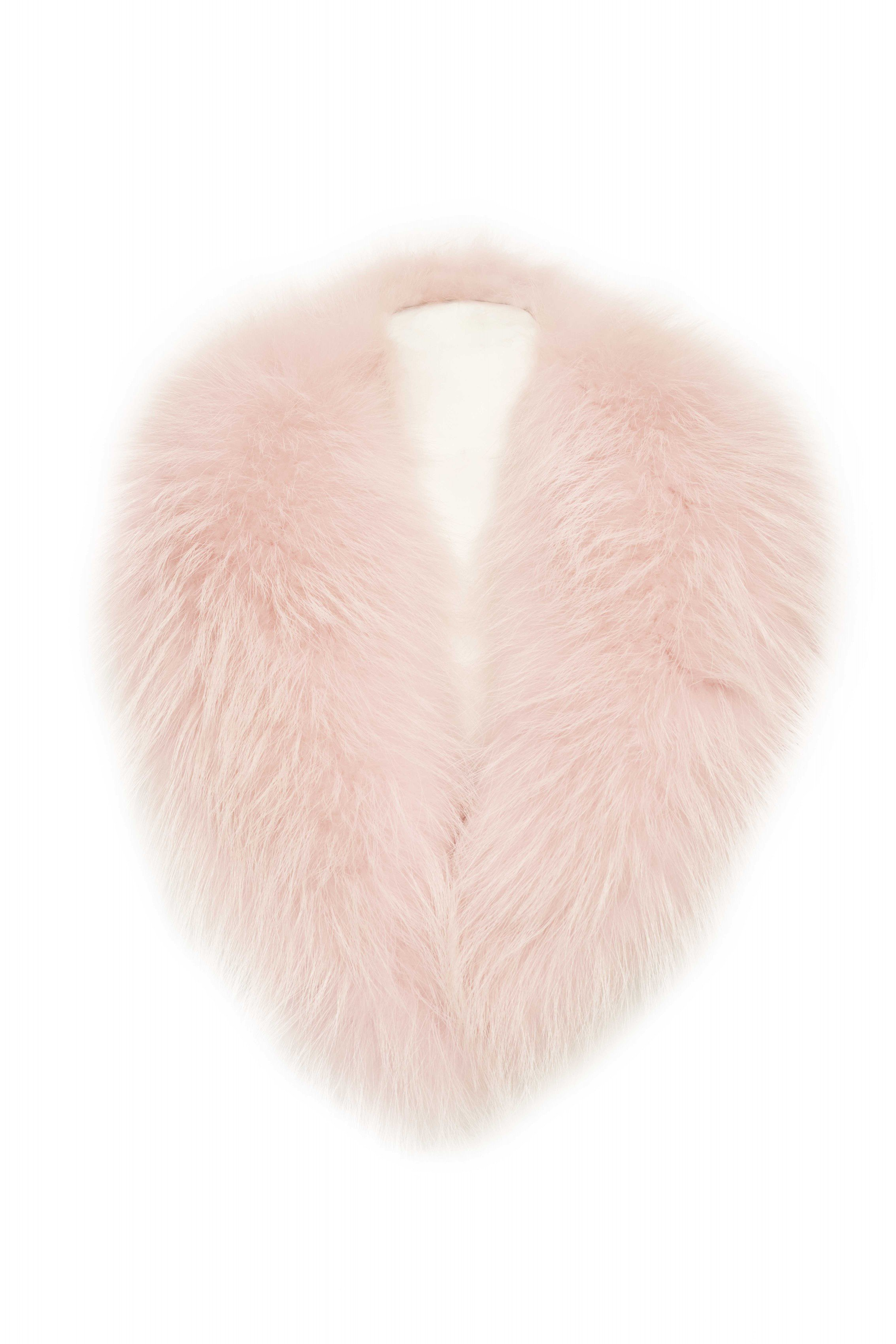 POPSKI LONDON Light Pink Fox Fur Collar