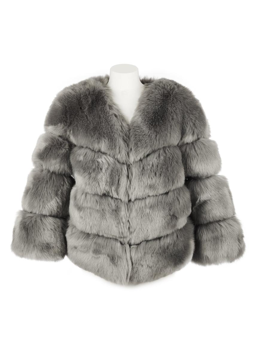 e747da34b7a Faux fur kensington jacket - grey ...