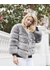 Faux fur kensington jacket - grey - Popski London