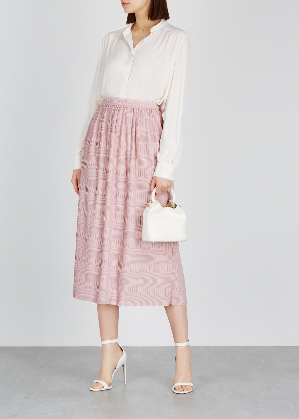 Pink plissé midi skirt - Filippa K